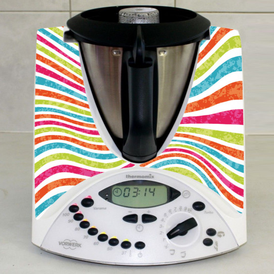 Stickers Thermomix TM 31 Rayé multicolor