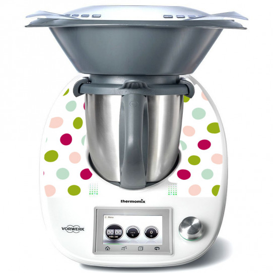 Stickers Thermomix TM 5 Pois Multicolores 3