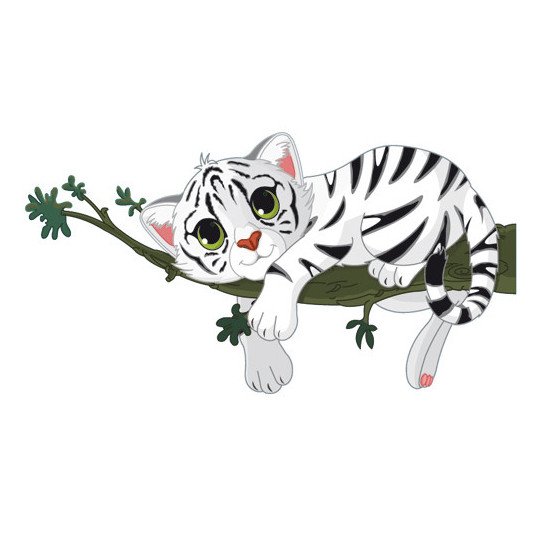 Stickers Tigre Blanc