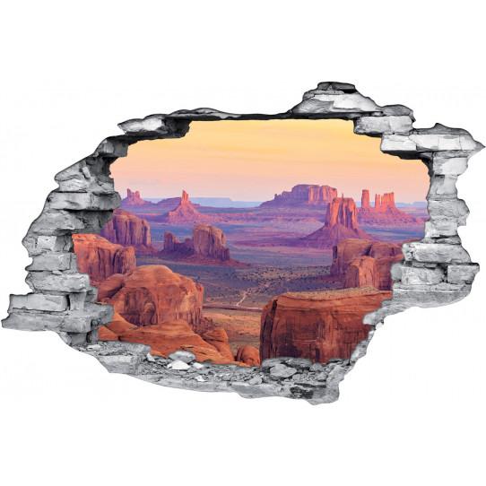 Stickers Trompe l'oeil 3D Desert Du Texas