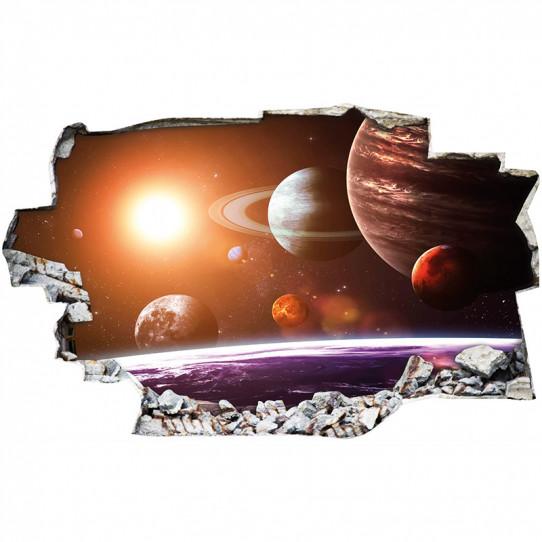Stickers Trompe l'oeil 3D - Espace 8