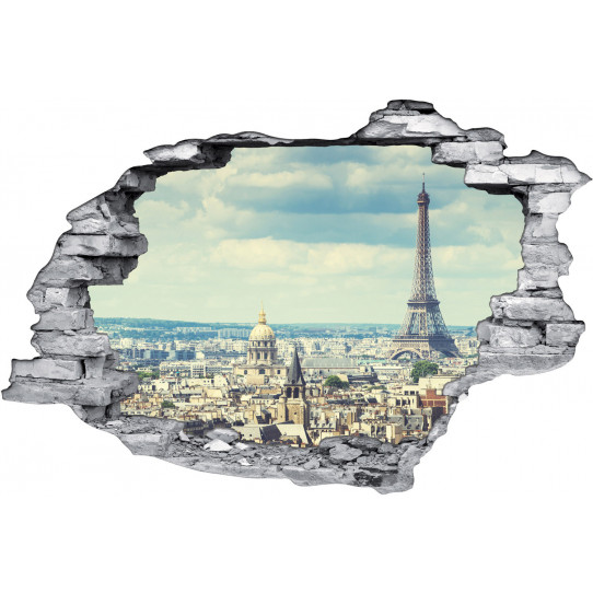 Stickers Trompe l'oeil 3D Paris 2