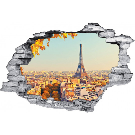 Stickers Trompe l'oeil 3D Paris 3