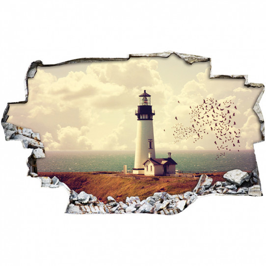 Stickers Trompe l'oeil 3D - Phare 2