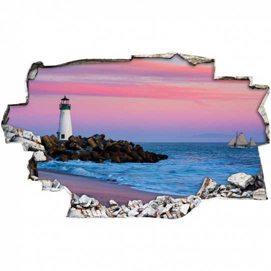 Stickers Trompe l'oeil 3D - Phare