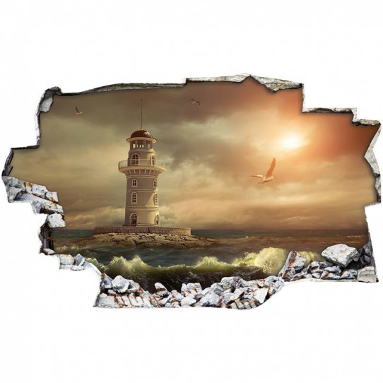 Stickers Trompe l'oeil 3D - Phare 4