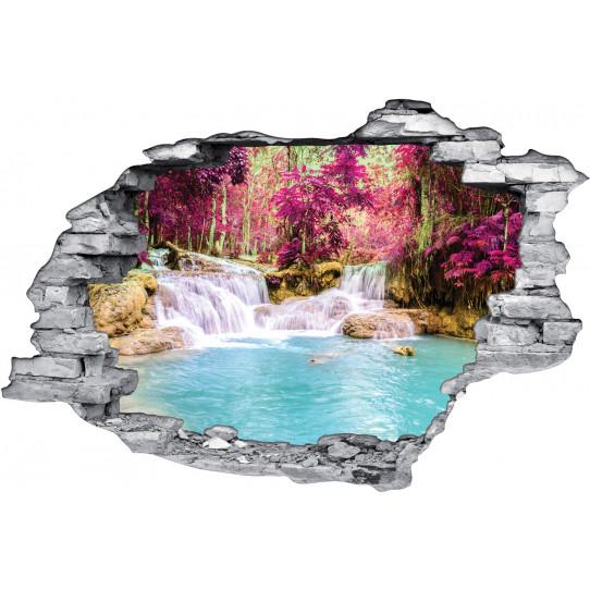 Stickers Trompe l'oeil 3D Rivière D'automne
