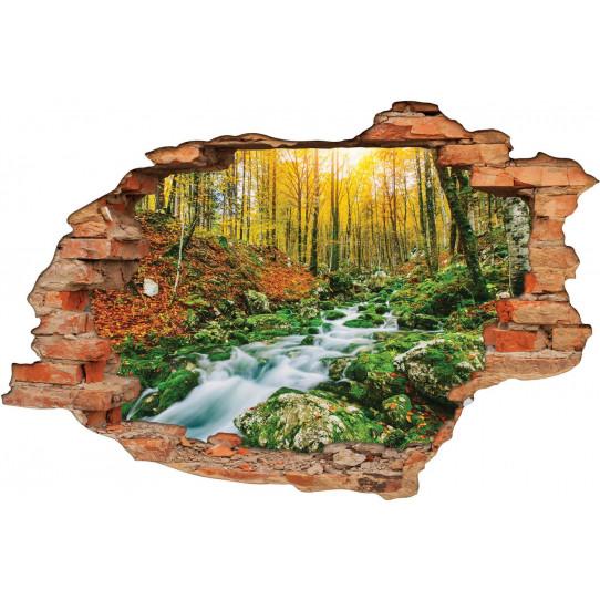 Stickers Trompe l'oeil 3D Ruisseau Fort - Des prix 50%