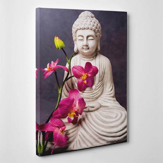 Tableau toile - Bambou Orchidée 2