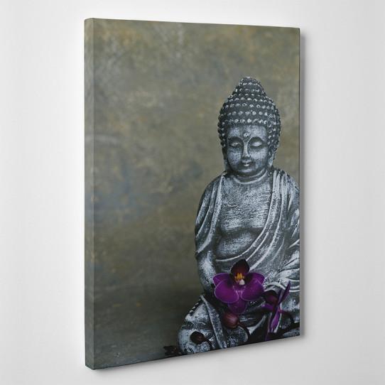 Tableau toile - Bouddha Orchidée