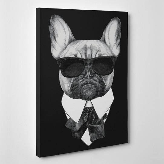 Tableau toile - Bouledogue Boss