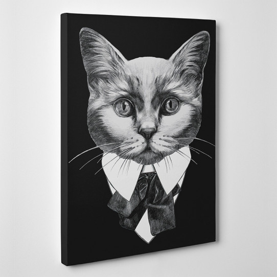 Tableau toile - Chat Boss