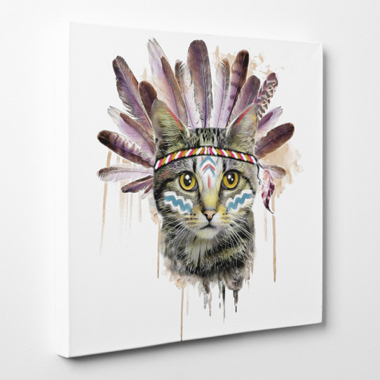 Tableau toile - Chat Indien