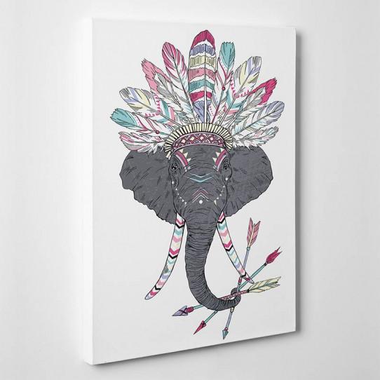 Tableau toile - Elephant Indien