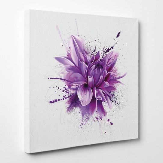 Tableau toile - Fleur Abstrait 4