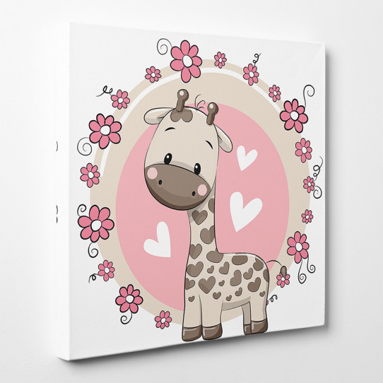 Tableau toile - Girafe