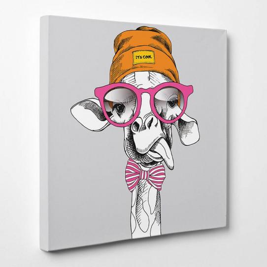 Tableau toile - Girafe Cool 5