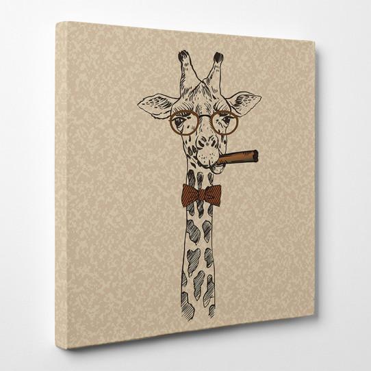 Tableau toile - Girafe Cool 8
