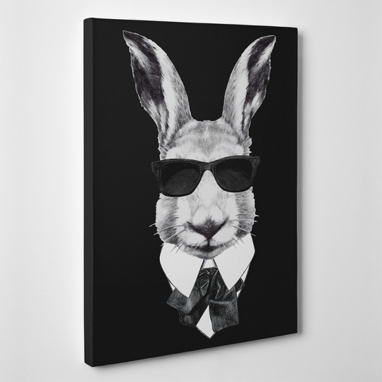 Tableau toile - Lapin Boss