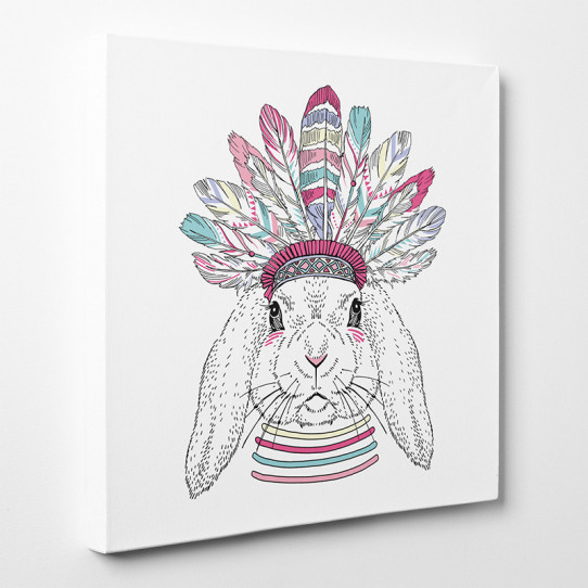 Tableau toile - Lapin Indien