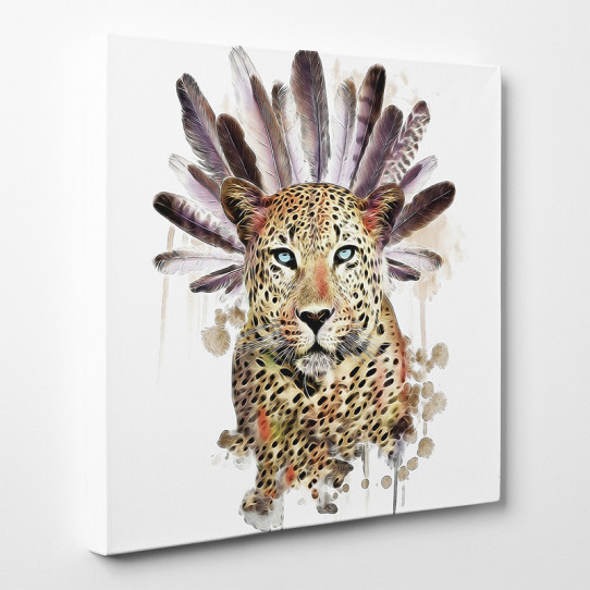 Tableau toile - Léopard Indien