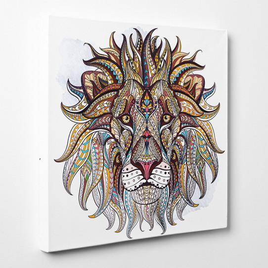 Tableau toile - Lion Abstrait 2