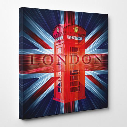 Tableau toile - London Cabine téléphonique 3