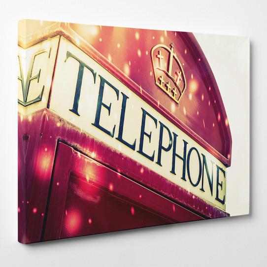 Tableau toile - London Cabine téléphonique 4