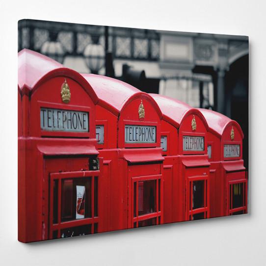 Tableau toile - London Cabine téléphonique 5