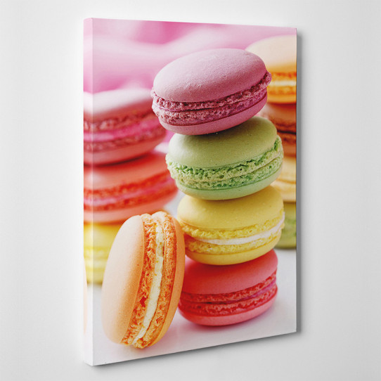 Tableau toile - Macarons