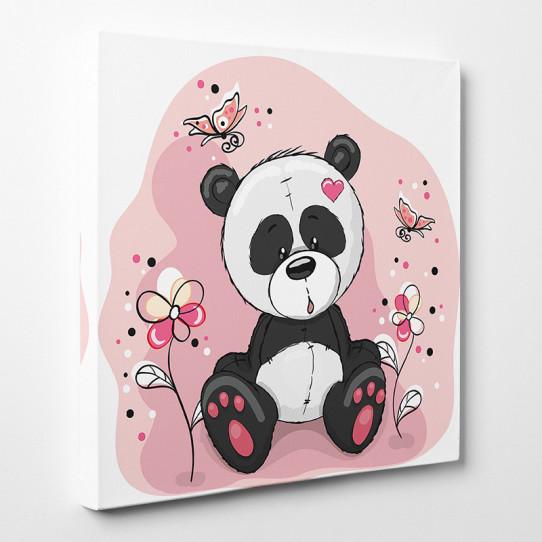 Tableau toile - Panda Fleur 2