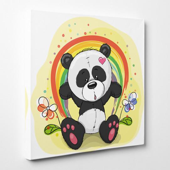 Tableau toile - Panda Fleur 3