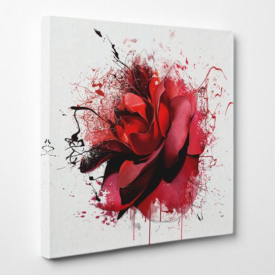 Tableau toile - Rose Abstrait 3