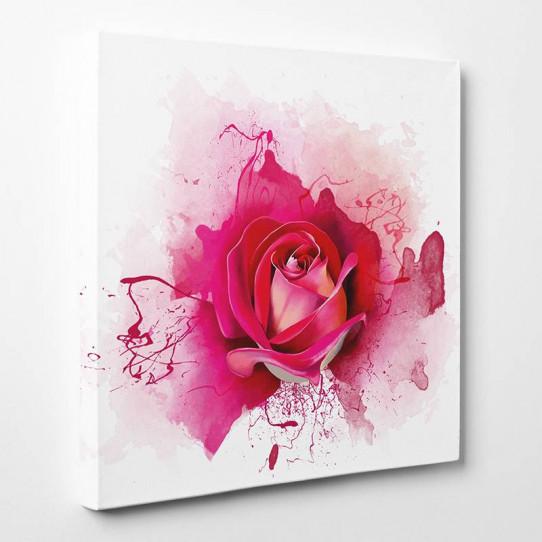 Tableau toile - Rose Abstrait 4