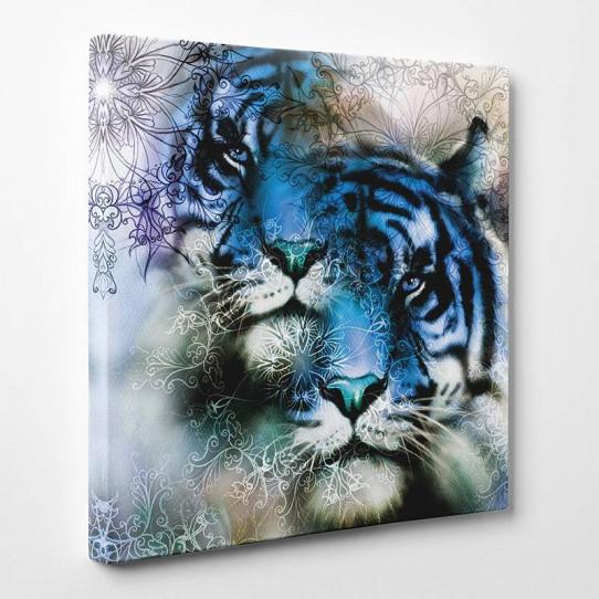 Tableau toile - Tigre Abstrait