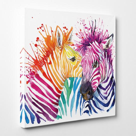 Tableau toile - Zèbres Abstrait
