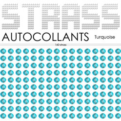 160 Strass Autocollants Turquoise