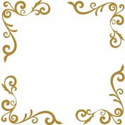 Ensemble de 4 Stickers Baroque OR 28x35 cm x4