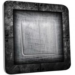 Interrupteur Décoré Double Va et Vient - Abstrait gris
