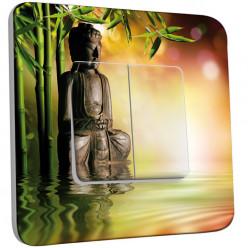 Interrupteur Décoré Double Va et Vient - Bambou Zen