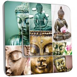 Interrupteur Décoré Double Va et Vient - Bouddha en Plusieurs Images