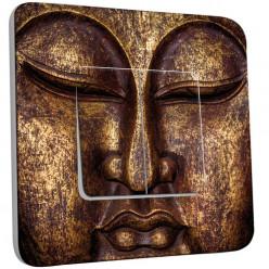 Interrupteur Décoré Double Va et Vient - Bouddha Or