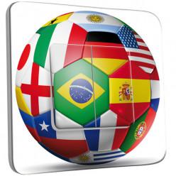Interrupteur Décoré Double Va et Vient - Coupe du monde