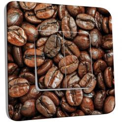 Interrupteur Décoré Double Va et Vient - Graines de Café Zoom