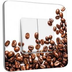 Interrupteur Décoré Double Va et Vient - Graines de Café Zoom 2