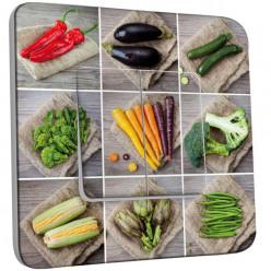 Interrupteur Décoré Double Va et Vient - Légumes