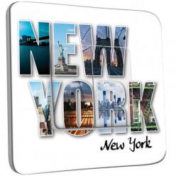Interrupteur Décoré Double Va et Vient - New York Lettres