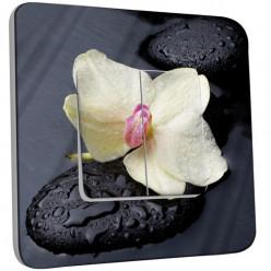 Interrupteur Décoré Double Va et Vient - Pierres Orchidé 10