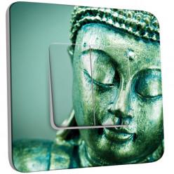 Interrupteur Décoré Double Va et Vient - Tête de Bouddha Zoom