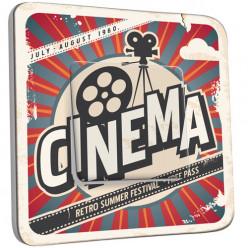 Interrupteur Décoré Simple Va et Vient - Cinéma